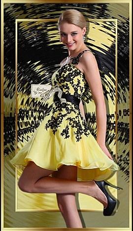 robes. dans belles robes. 438-vbm-femme-robe-de-soiree-jaune-noir-20.11.11